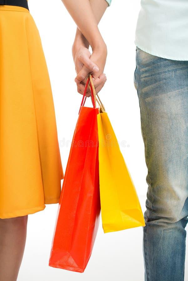 El hacer compras junto imagenes de archivo