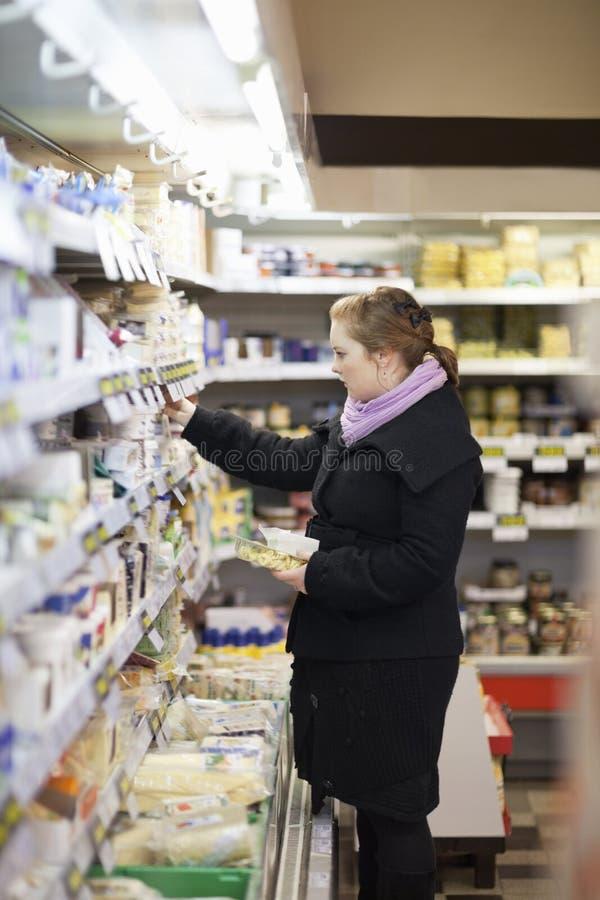 El hacer compras - mujer joven hermosa foto de archivo libre de regalías