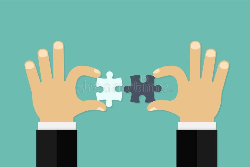 El hacer juego del negocio - elementos de conexión del rompecabezas stock de ilustración