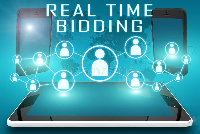El hacer una oferta en tiempo real fotografía de archivo