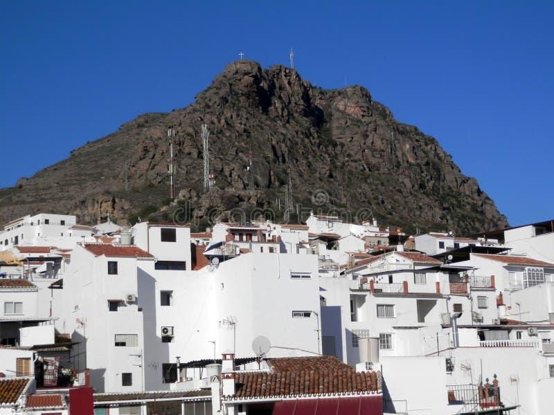 El Hacho i Alora wioska zdjęcia stock