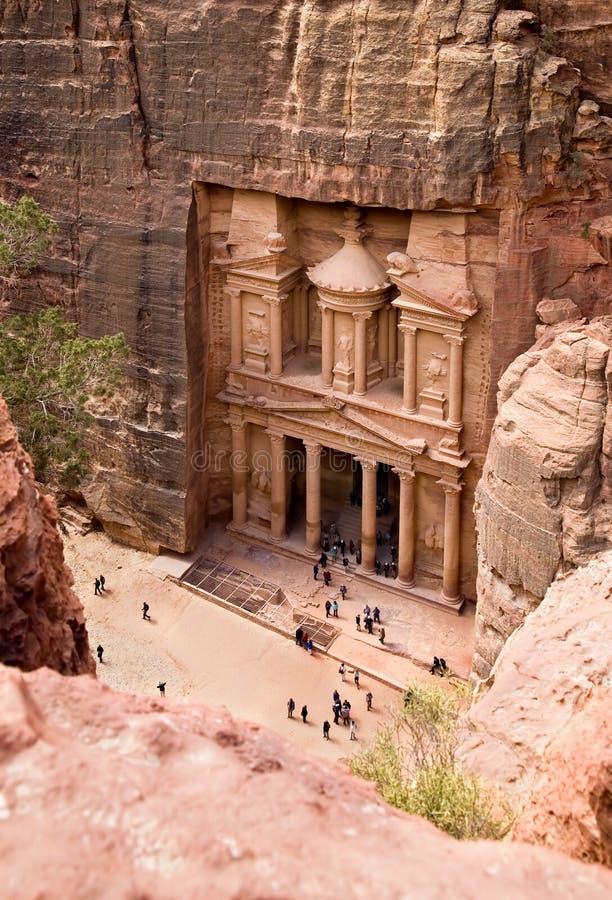 El Hacienda. Ciudad antigua del Petra, Jordania foto de archivo libre de regalías