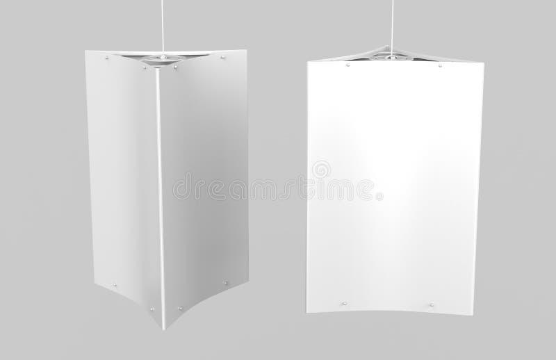 El hardware de Dangler del techo sostiene los tres paneles gráficos libre illustration