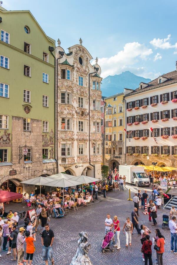 El Helblinghaus en Innsbruck, Austria imagenes de archivo