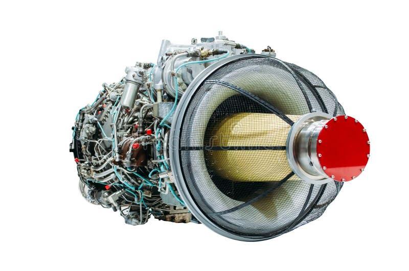 El helicóptero del motor a reacción, turbina aisló el fondo blanco imágenes de archivo libres de regalías