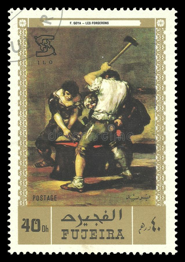 El herrero de Francisco de Goya fotos de archivo libres de regalías
