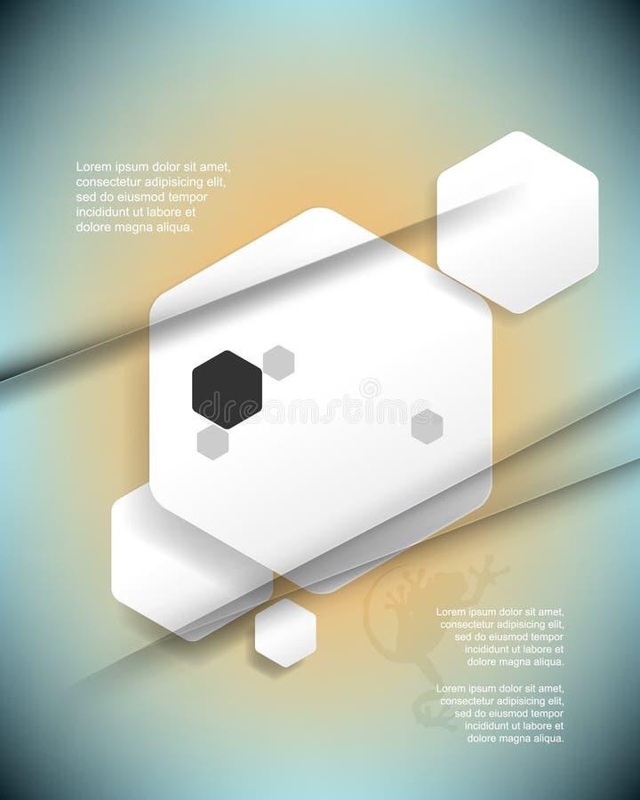 El hexágono del vector forma el fondo de los elementos libre illustration
