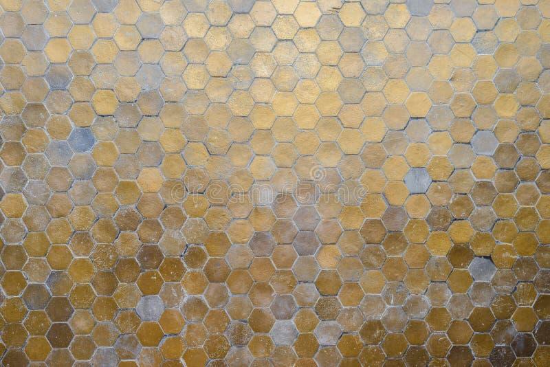 El hexágono pattren el fondo abstracto de la pared fotografía de archivo
