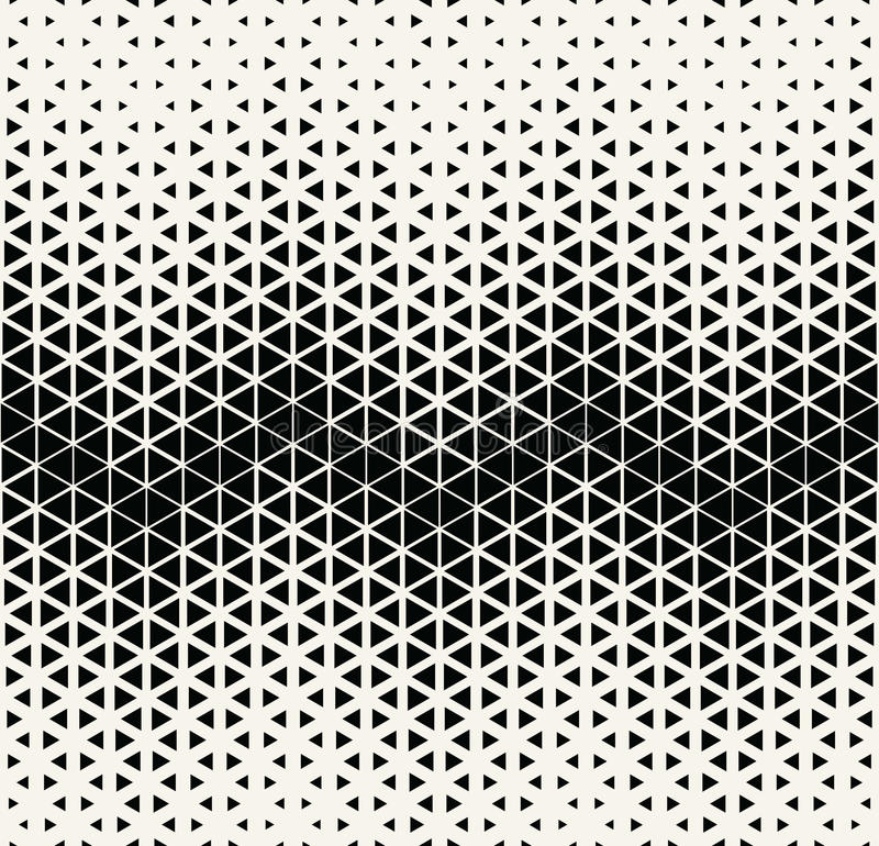El hexagone de semitono y el triángulo del arte blanco y negro geométrico abstracto del deco imprimen el modelo libre illustration