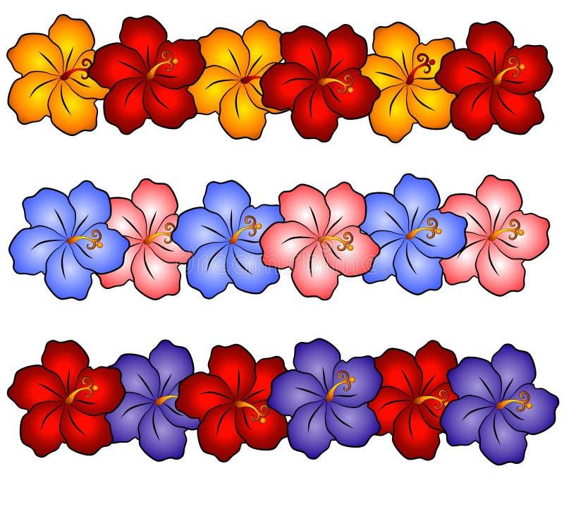 El hibisco de Hawaii florece 2 stock de ilustración