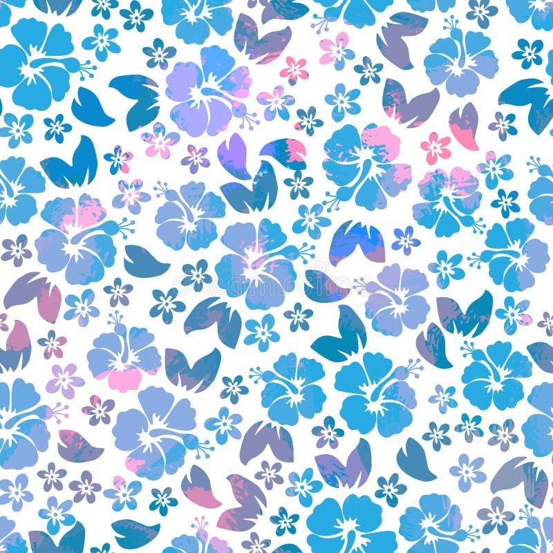 El hibisco florece el modelo inconsútil Aloha Shirt Seamless Background hawaiana libre illustration