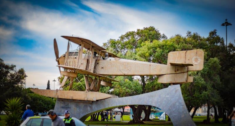 El hidroavión de Santa Cruz Fairey usado por Coutinho y Cabral para su vuelo transatlántico imágenes de archivo libres de regalías