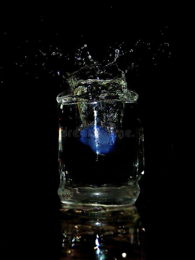 El hielo azul foto de archivo