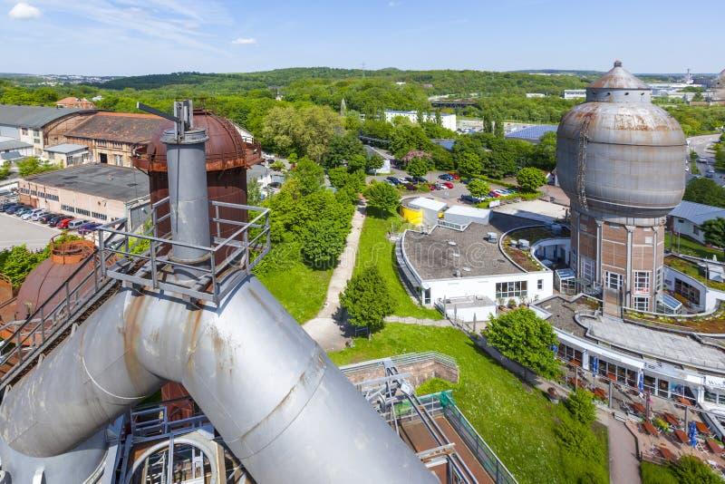 El hierro viejo trabaja los monumentos en Neunkirchen imagenes de archivo