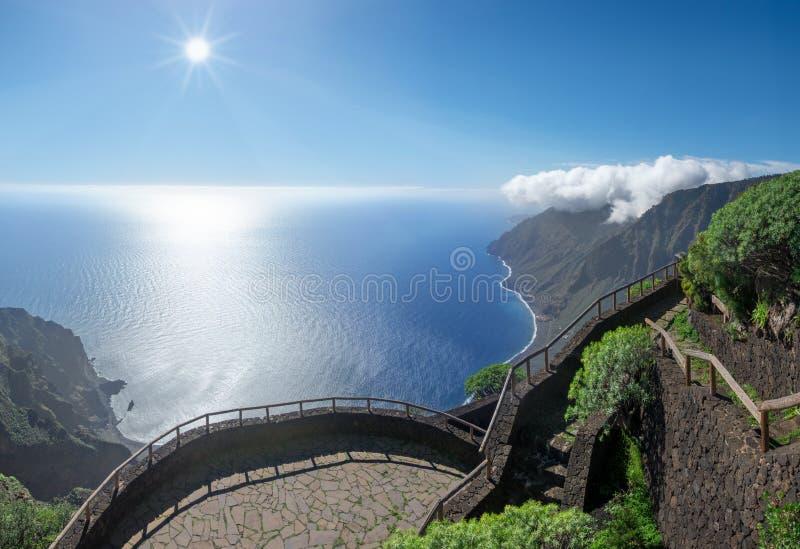 EL Hierro - Viewpoint Mirador de Isora fotografia stock libera da diritti