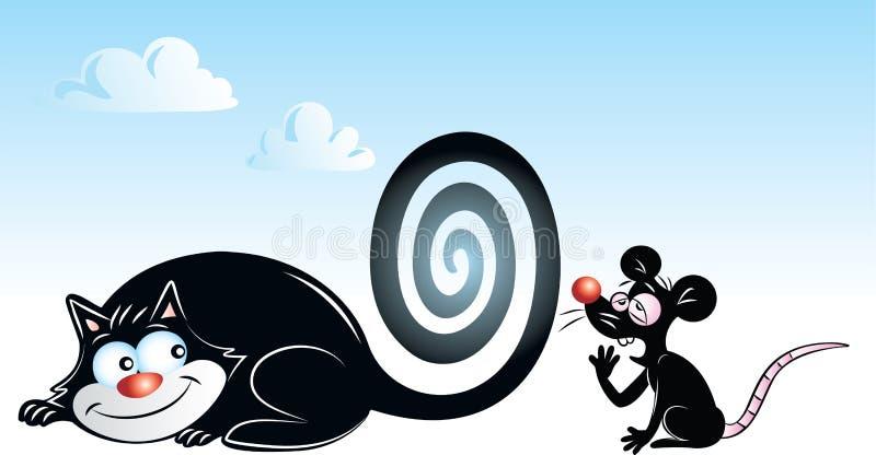 El hipnotizar espiral ilustración del vector