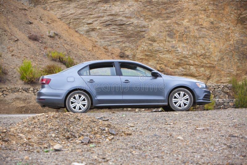 El hociema, maroko - maj 2019 : VW Jetta obraz royalty free