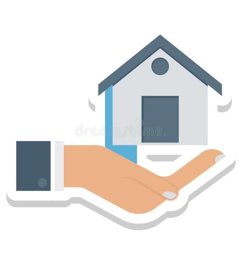 El hogar, césped, casa en iconos aislados las manos del vector puede ser se modifica con cualquier estilo ilustración del vector