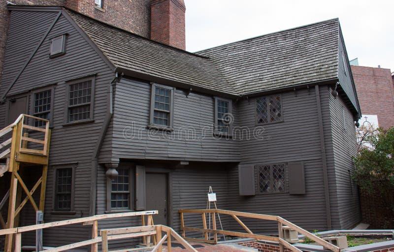 El hogar de Paul Revere foto de archivo libre de regalías