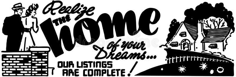 El hogar de sus sueños ilustración del vector