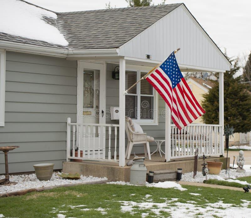 El hogar de un patriota medio imagen de archivo libre de regalías
