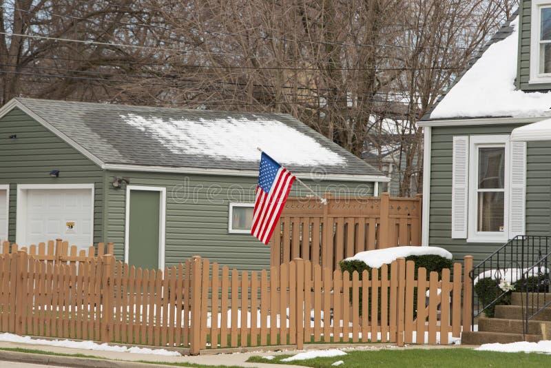 El hogar de un patriota medio fotografía de archivo libre de regalías
