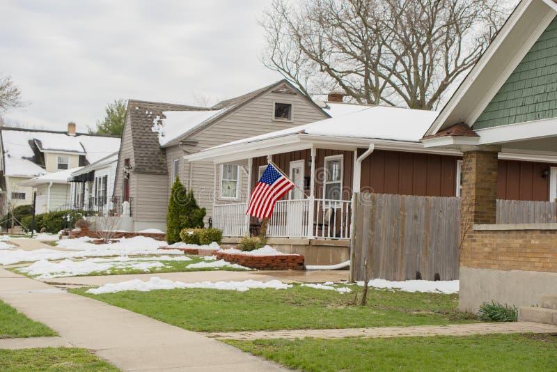 El hogar de un patriota medio imagenes de archivo