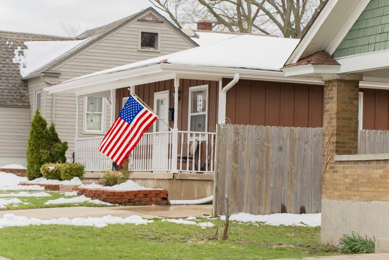 El hogar de un patriota medio foto de archivo libre de regalías