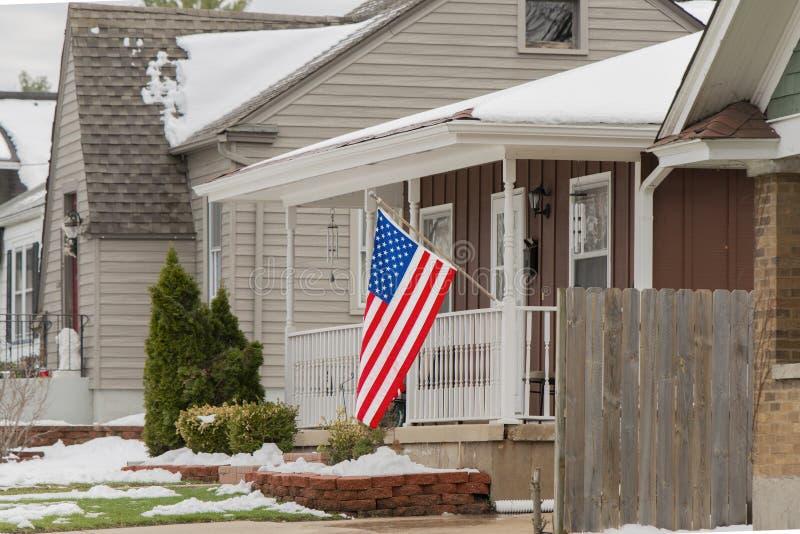 El hogar de un patriota medio foto de archivo