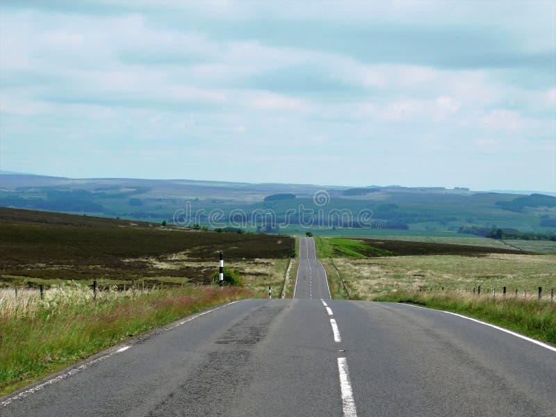 El hogar del largo camino en Northumberland imagen de archivo libre de regalías