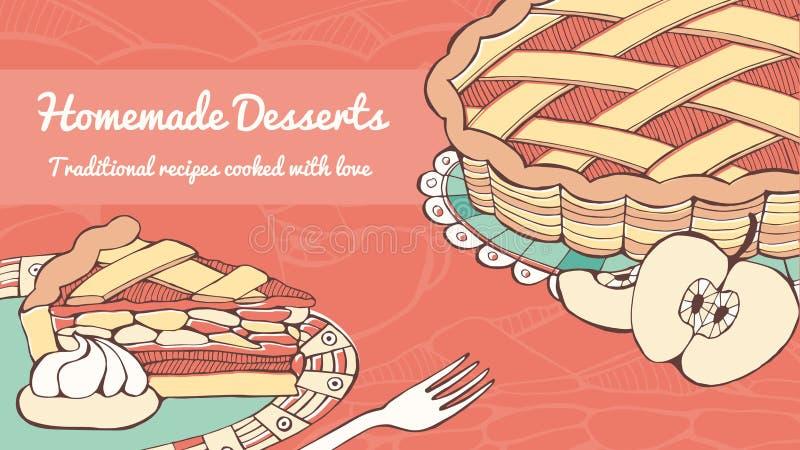 El hogar hizo la empanada de Apple libre illustration