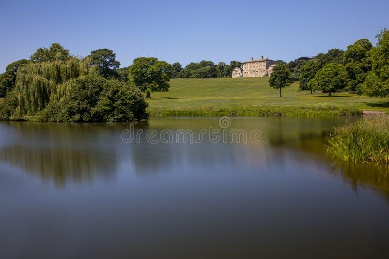 El hogar majestuoso y el museo, Doncaster, Yorkshire de Cusworth Pasillo unieron imagen de archivo