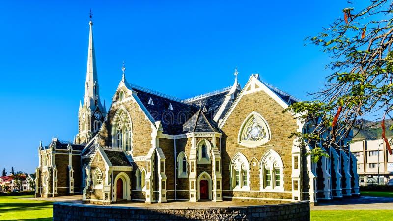 El holandés reformó la iglesia en Graaff-Reinet en el ` s de Suráfrica poca región del Karoo Es un monumento nacional de Suráfric imágenes de archivo libres de regalías