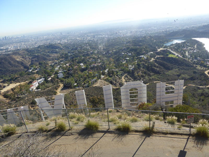 El Hollywood firma adentro Hollywood, California, los E.E.U.U. fotografía de archivo