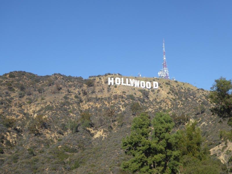 El Hollywood firma adentro Hollywood, California, los E.E.U.U. imagen de archivo