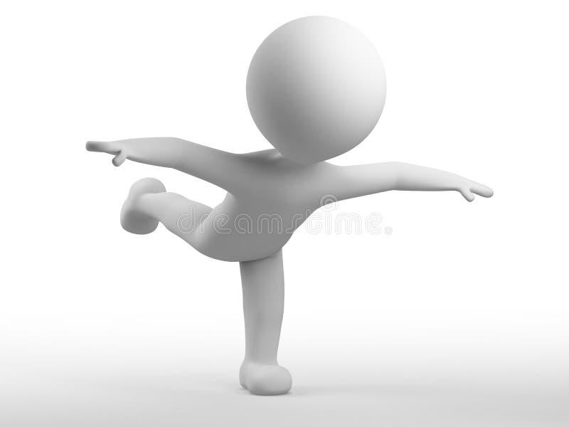 El hombre blanco con una pista redonda está en la posición â3 libre illustration