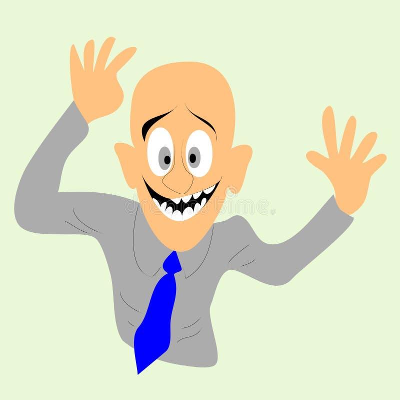 El hombre calvo feliz ilustración del vector