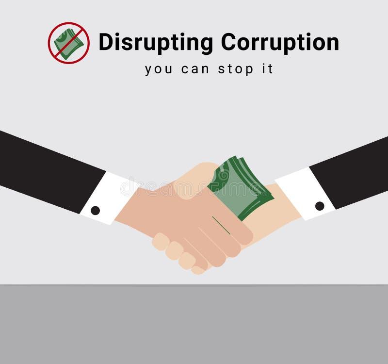 El hombre de la gente o de negocios en traje está dando el dinero con la parada del símbolo recibe el uno al otro el dinero de cu libre illustration