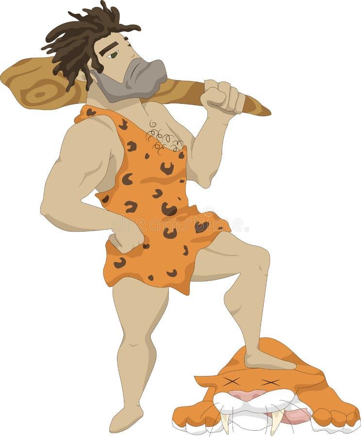 El hombre de las cavernas ilustración del vector