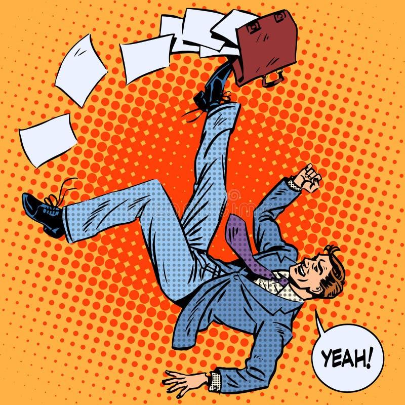 El hombre de negocios anota éxito empresarial de la cartera stock de ilustración