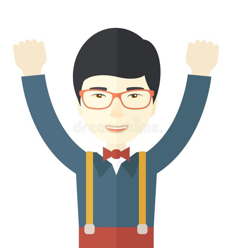 El hombre de negocios asiático consigue la idea libre illustration