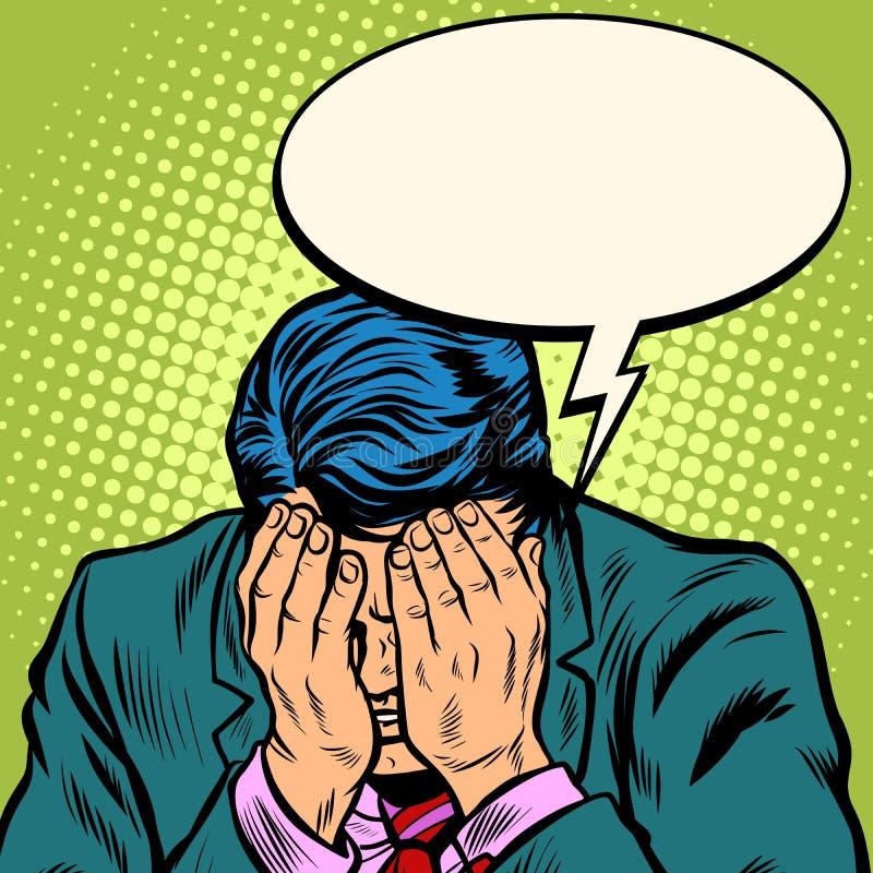 El hombre de negocios del hombre pide perdón stock de ilustración