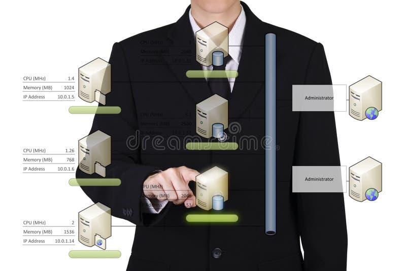 el hombre de negocios elige la base de datos imagenes de archivo