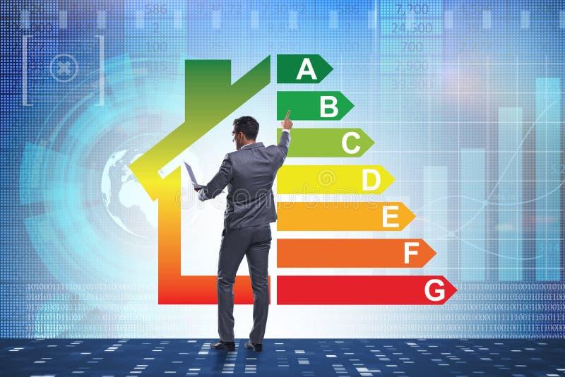 El hombre de negocios en concepto del rendimiento energético imagen de archivo libre de regalías
