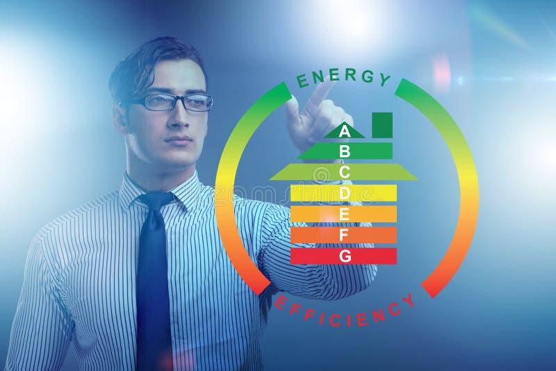 El hombre de negocios en concepto del rendimiento energético fotos de archivo libres de regalías
