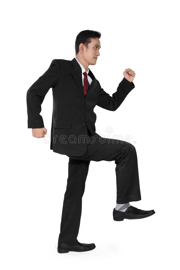 El hombre de negocios intensifica imagen de archivo libre de regalías