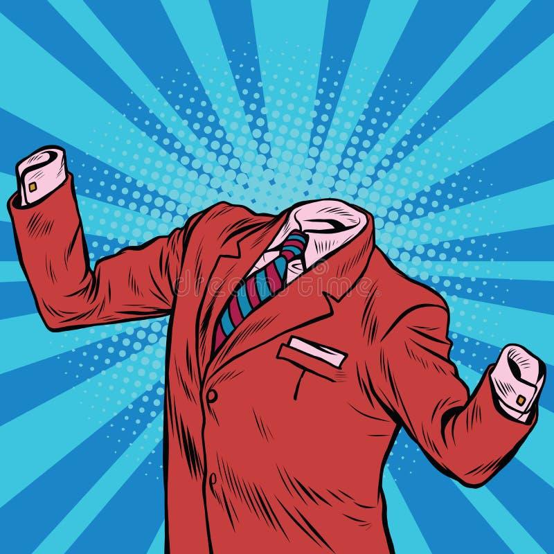 El hombre de negocios invisible del hombre stock de ilustración