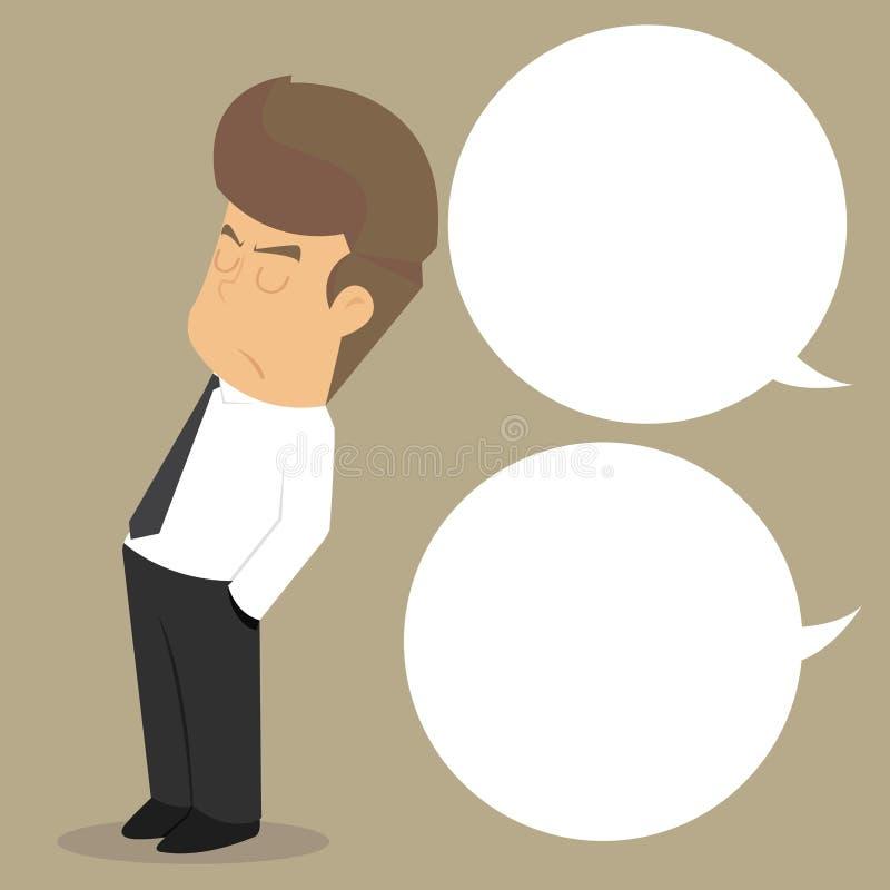 El hombre de negocios pone discurso del cuidado del ` t libre illustration