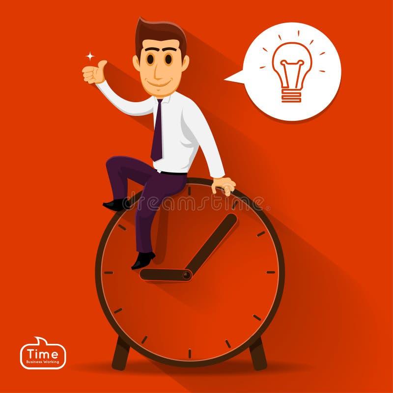 El hombre de negocios puede pensar en buena idea libre illustration