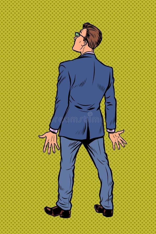 El hombre de negocios retrocede stock de ilustración